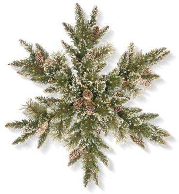 National Tree Company® 32-Inch Pre-Lit Infinity Lights Glittery Bristle Snowflake Wreath Aff