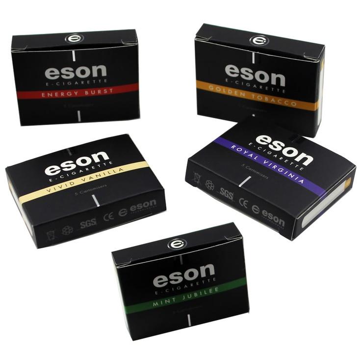 Range of Flavours - E-Cigarettes Cartomizers