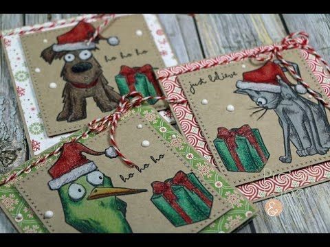 Prairie Paper & Ink: Tim Holtz Crazy Animals | Prismacolor Pencils | AmyR 2016 Christmas Card Series #16