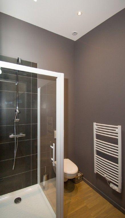 44 best Salle de bain - studio images on Pinterest Bathroom, Half - peindre plafond salle de bain