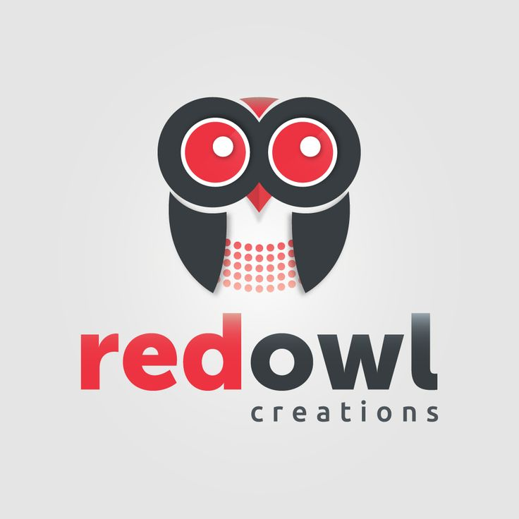 Red Owl Creation (Final Logo Design) for print by Pixelution