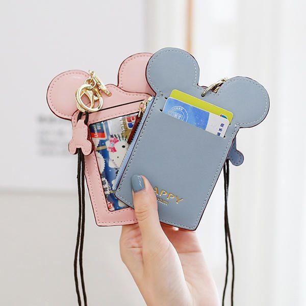 Cute Animal Shape Card Holder Wallet Purse Neck Bag for Women - US$9.59