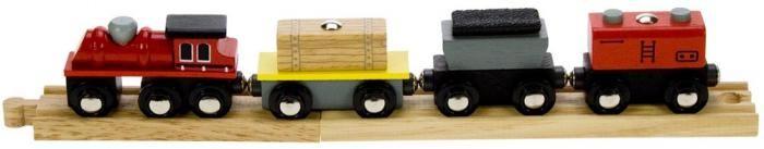 Tren de Mercancias (madera); Los vagones de madera de este precioso tren cuentan con cargas desmontables que se pueden levantar con una grúa magnética Bigjigs.... En     http://www.opirata.com/tren-mercancias-madera-p-26889.html