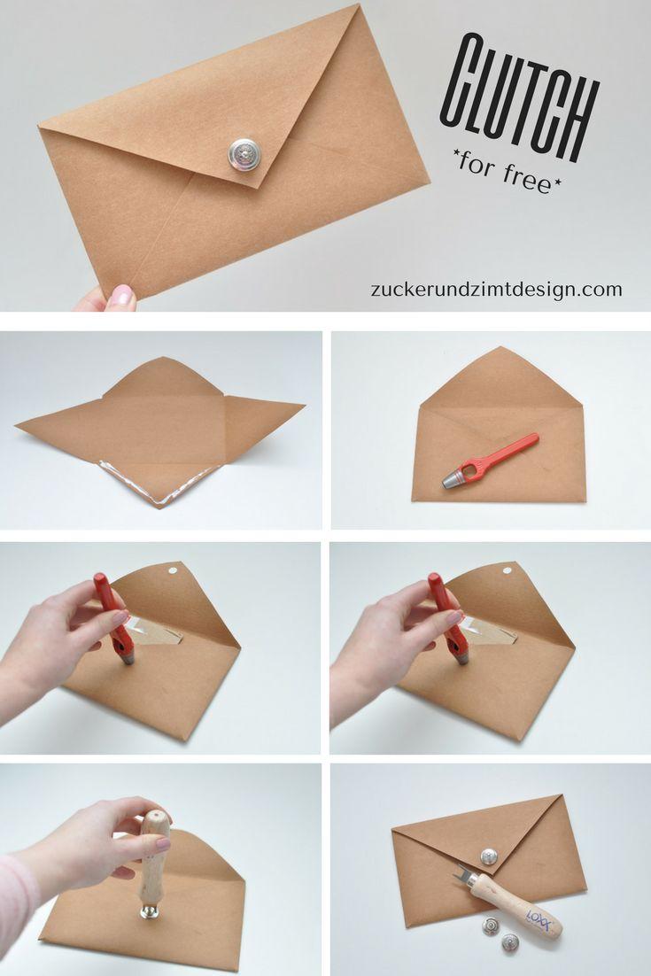 Einfache Schritt für Schritt DIY Anleitung für eine Clutch mit dem LOXX Verschluss aus z.B. Snap Pap oder Kork! Ganz ohne Nähen!