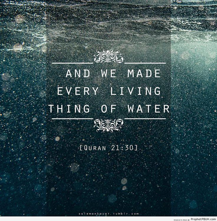 A drop of water equals life, so preserve it!