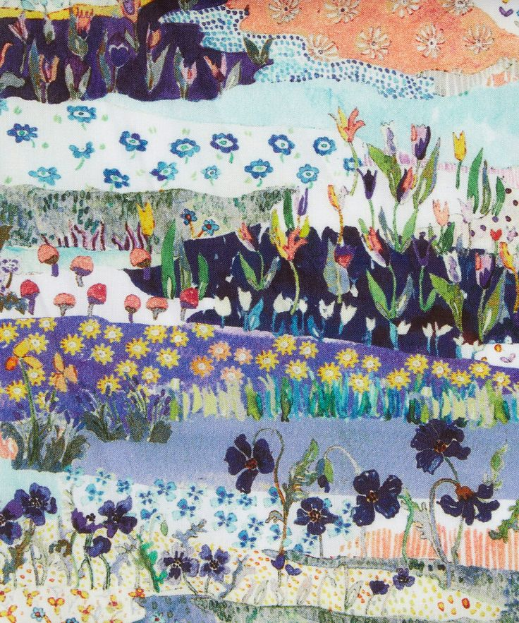 Liberty Art Fabrics Posy Landscape Tana Lawn Cotton | Fabric | Liberty.co.uk