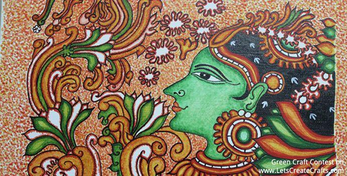 Kerala Mural Painting - Charru Prabha | LetsCreateCrafts