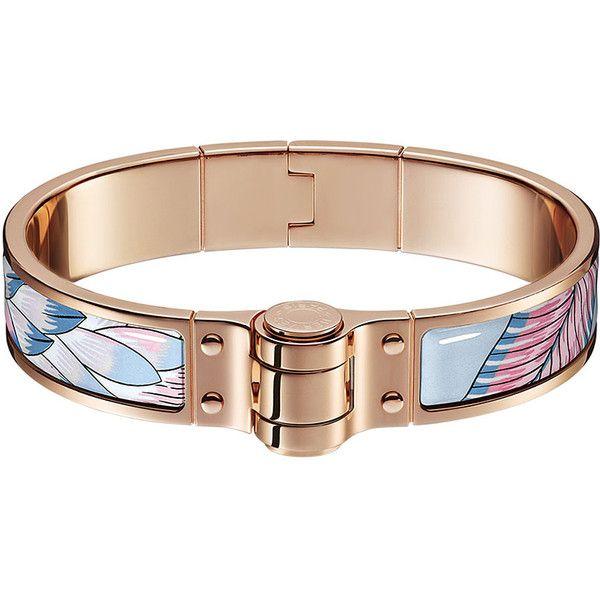 Hermès Charniere Savana Dance Bracelet ($600) ❤ liked on Polyvore featuring jewelry, bracelets, bangle bracelet, rose jewelry, enamel bangle bracelet, enamel bangle and bangle jewelry