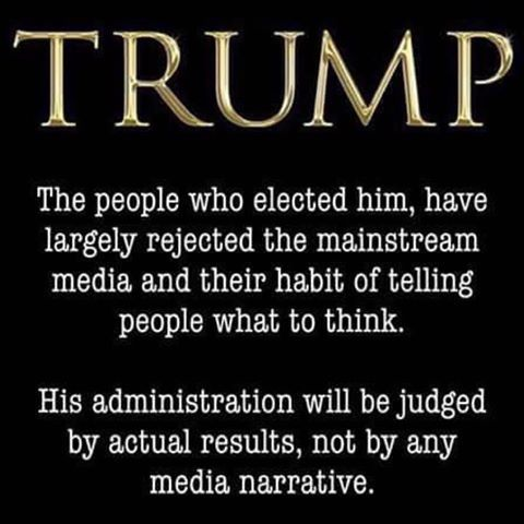 Yep. We've decided to ignore all of the manipulative, false, biased BS the mainstream media is shoveling & think for ourselves. Imagine that.