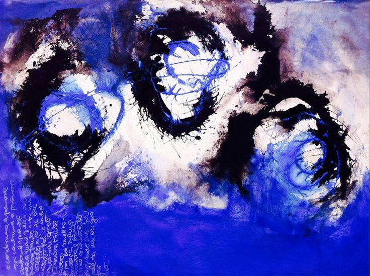 Stars and skies (acrylic, ink and oil on rice paper, 2014) | by Beatrice Zagato | abstract art