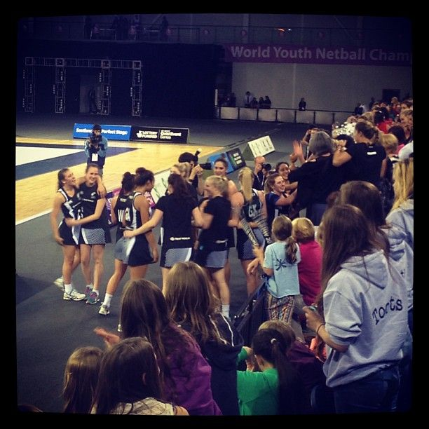 The New Zealand team celebrate with their supporters ahead of the closing ceremony #wync2013 #NZU21 #Champion #Gold