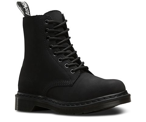The classic Dr. Martens 8-eye boot is reinvented in striking tonal white or black nubuck, with matching eyelets, laces and sole. It's also fully lined in rich, warm and artificial fur—so you can rebel against the bitter cold of the season. Winter never saw it coming. The Fur-lined 1460 women's 8-eye boot is constructed on our iconic air-cushioned sole, that's oil-and-fat resistant with good abrasion and slip resistance—and has been since 1960. This boot is Goodyear-welted, meaning the upper…