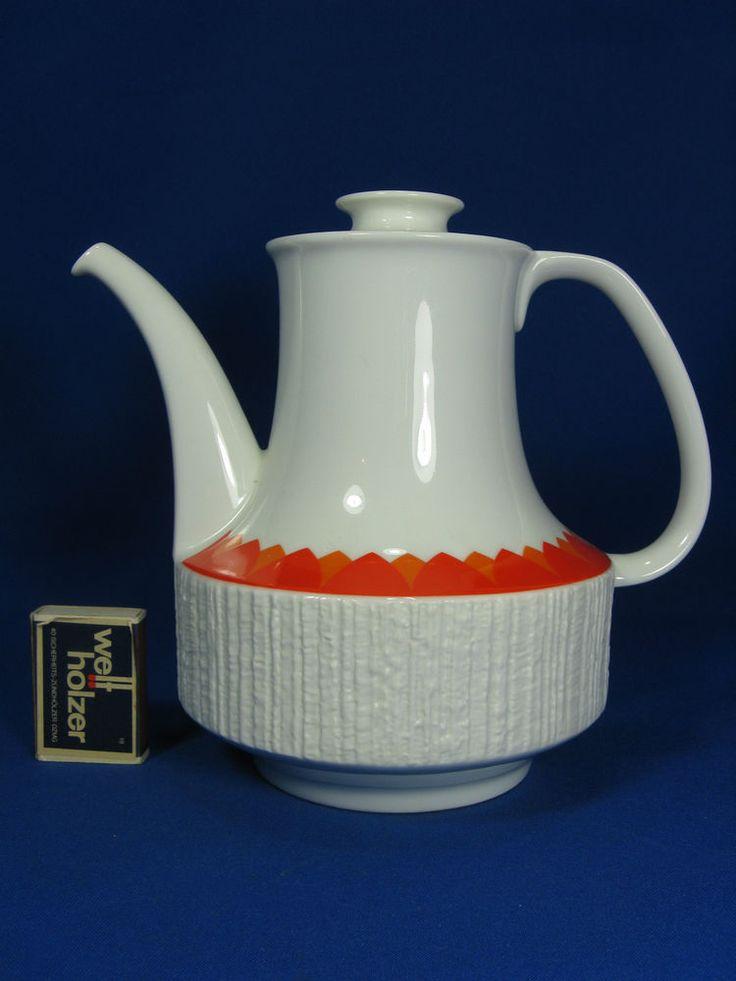 70´s Thomas relief porcelain Kaffeekanne coffeepot   Arcta   Richard Scharrer