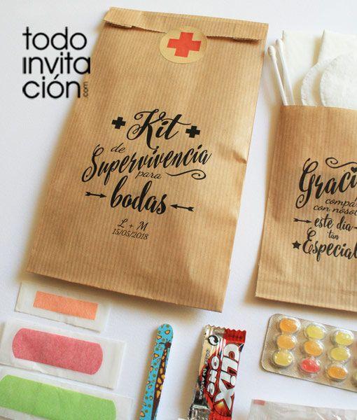 Las 25 mejores ideas sobre kits de supervivencia de boda - Ideas super originales para bodas ...