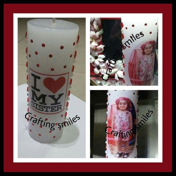 Personalised candles #birthdaygift #giftideas #birthday #craftingsmiles