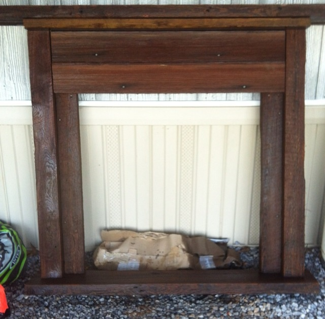 Faux Mantel From Old Wood There Is No Place Like Home Pinterest Mantels Woods And Old Wood