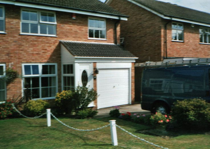Best Pitched Roof Garage Extension Above Flat Roof Being 400 x 300
