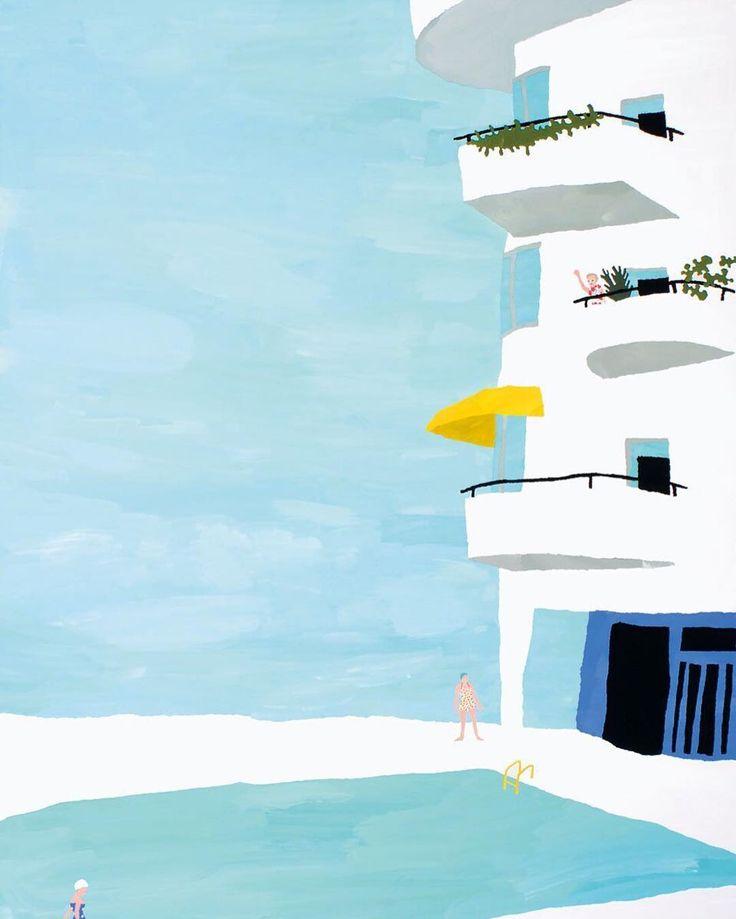 "Natsuki Camino 2010. ""Paper Trip 2"" personal work; chigiri-e #collage featured in #ILLUSTRATION NOW 5. Natsuki Camino / TASCHEN. Link in bio."
