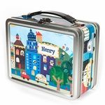 Our personalized lunch boxes make your child feel special every day! Each one of our lunch boxes features your child�s name on multiple sides. On the inside lid, there�s a chalkboard where you can write a personalized note to your child each morning!Safe for storing food, our lunch boxes are made of tin and contain no lead.
