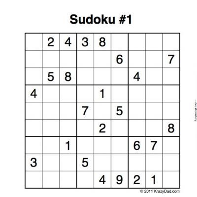 This is a picture of Declarative Printable Sudoku Games