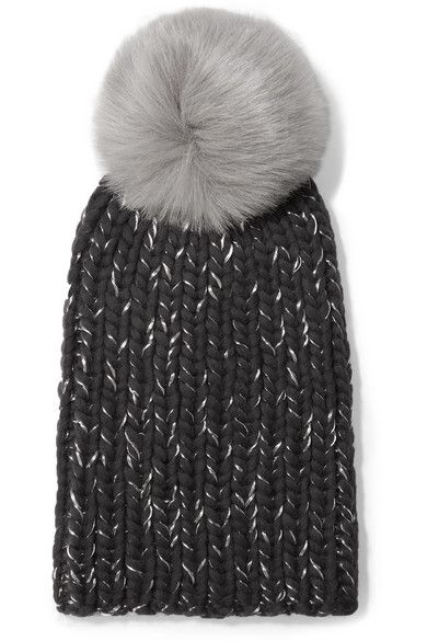 Likely the hat worn in Sweden for the first day of the royal tour Jan 30 3018 Eugenia Kim Rain faux fur-trimmed chunky-knit wool beanie