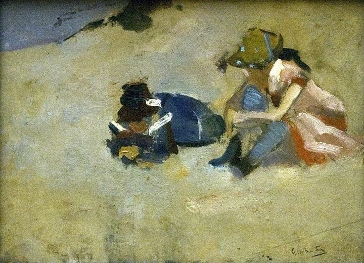 George Hendrik Breitner (1857–1923):  'Children in the Dunes', 1894