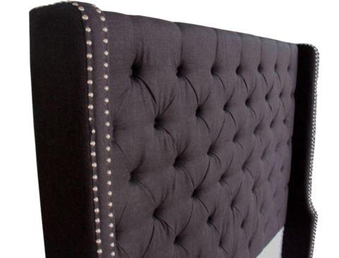 Mason Headboard Queen - Black Linen - Complete Pad ®