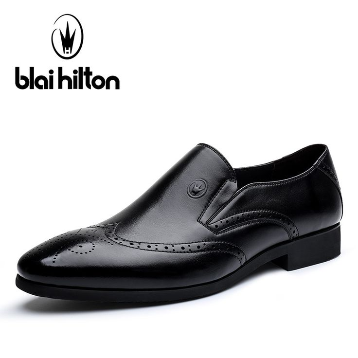 Blai Hilton New Fashion Spring/Autumn men shoes Genuine Leather shoes Breathable/Comfortable British Style Men's Casual Shoes #Affiliate