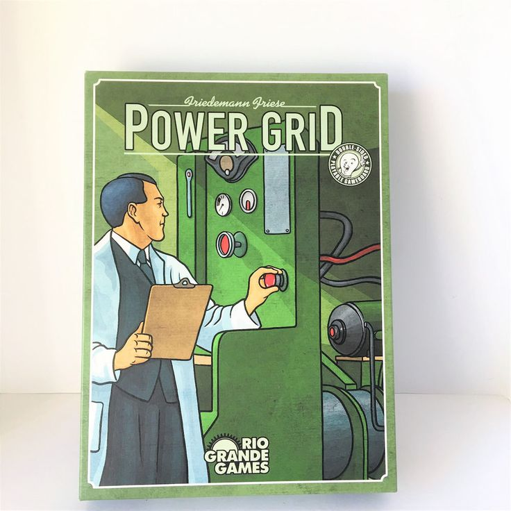Power Grid Friedemann Friese Double Sided Playable Board Game Complete #RioGrandeGames