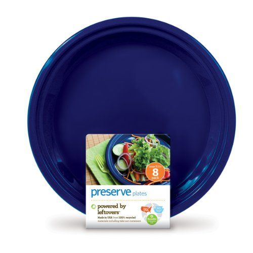 Preserve On the Go Large Plates, Set of 8, Midnight Blue. For product info go to:  https://all4hiking.com/products/preserve-on-the-go-large-plates-set-of-8-midnight-blue/