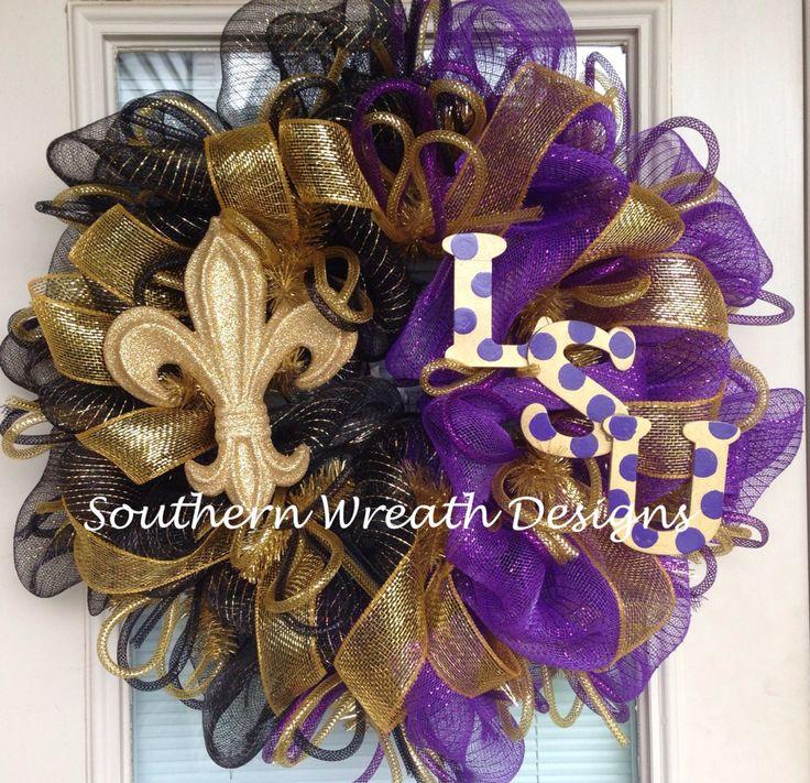LSU Saints wreath