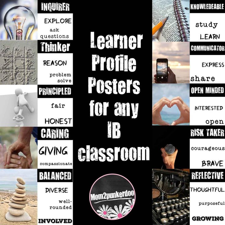 IB Learner Profile Posters for your PYP, MYP or DP classroom.                                                                                                                                                                                 More
