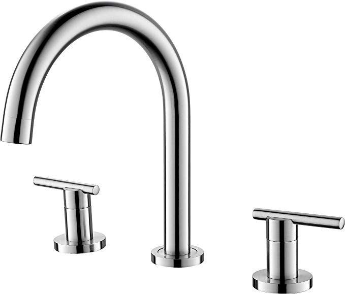 Etel Cupc Lead Free 2 Handle Widespread Bathroom Faucet 3 Hole Lavatory Faucet Basin Mixer 2512 Br Bathroom Faucets Basin Sink Bathroom Modern Kitchen Faucet