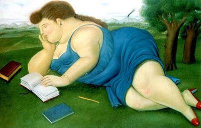 Una lectora, por Fernando Botero