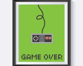 Video Games Game Room Art Nerd Art NES Video Game by ccPrintShop