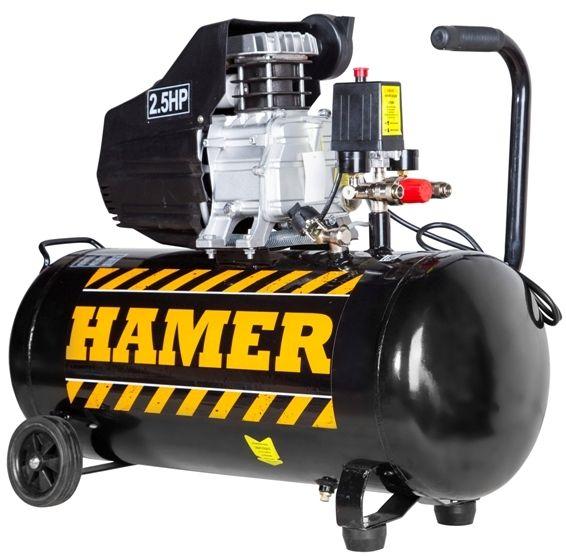 Компрессор HAMER AIR-2Воздушный компрессор – незаменимая вещь в гараже, частном доме и на мелком производстве. Суть работы компрессора заключается в следующем – он сжимает воздух и подает его под давлением в пневматический инструмент или краскопульт. В гараже при помощи этого устройства можно очищать поверхности, накачивать шины автомобиля. На стройке компрессор применяется для работы с такими инструментами как пневматическая дрель, отбойный молоток, пневматический бур и прочее. #HAMER