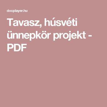Tavasz, húsvéti ünnepkör projekt - PDF