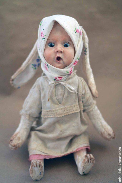 Тедди-долл Удивляться всему... - тедди-долл, мишки тедди, зайка, зайка девочка