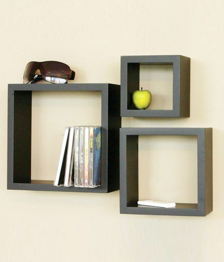 Lovely Wall Shelves Decorating Ideas With Furniture Decorative Black  Floating Wall Mounted Shelves Design In Black Color Tone 23 Creative And  Cool Shelf ...