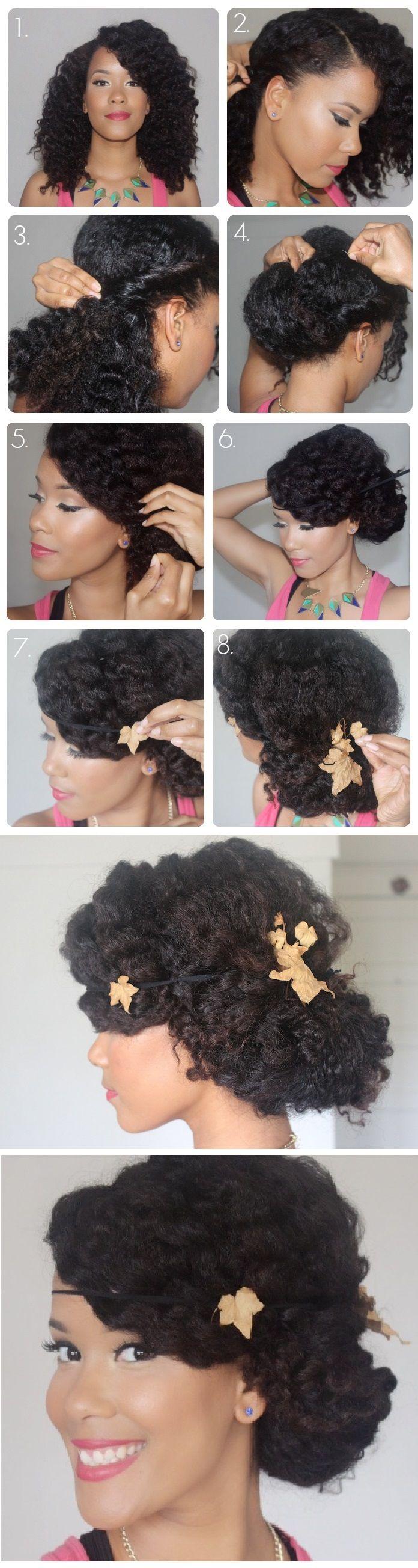 http://www.shorthaircutsforblackwomen.com/black-tea-rinse-for-hair/ Natural Hair Spring Fling: Wavy, Low Chignon Pictorial