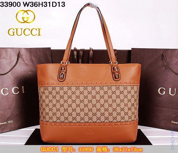 Сумка Gucci кожаная коричневая, удобно носить на плече