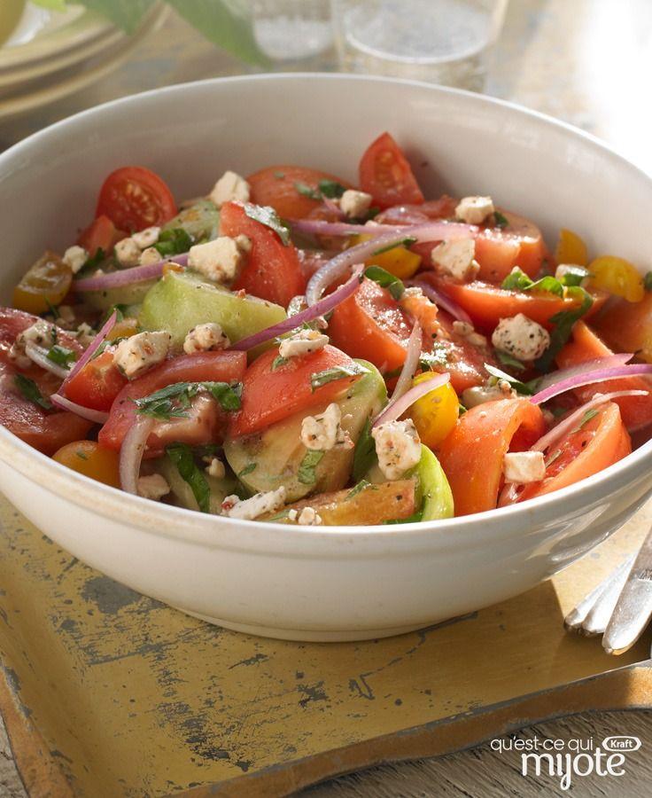 Salade de tomates multicolore #recette