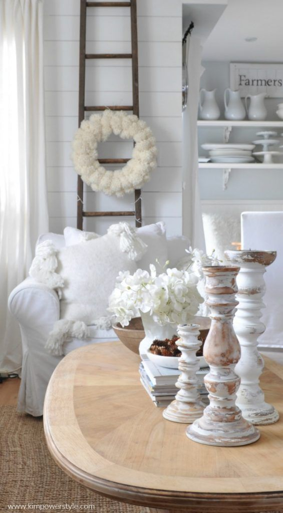 Winter whites in the living room