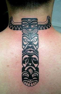 tribal faces #totem #tattoo