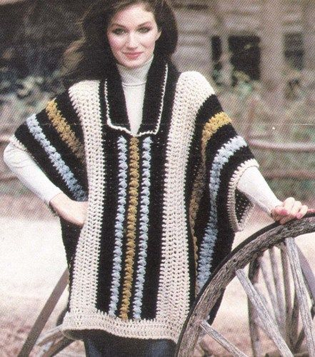 """This is a PDF pattern that will be sent to your email within 24 hours of payment.  Size is 30"""" long at center back and front plus fringe.  Materials: Reynolds Lopi and size J crochet hook."""