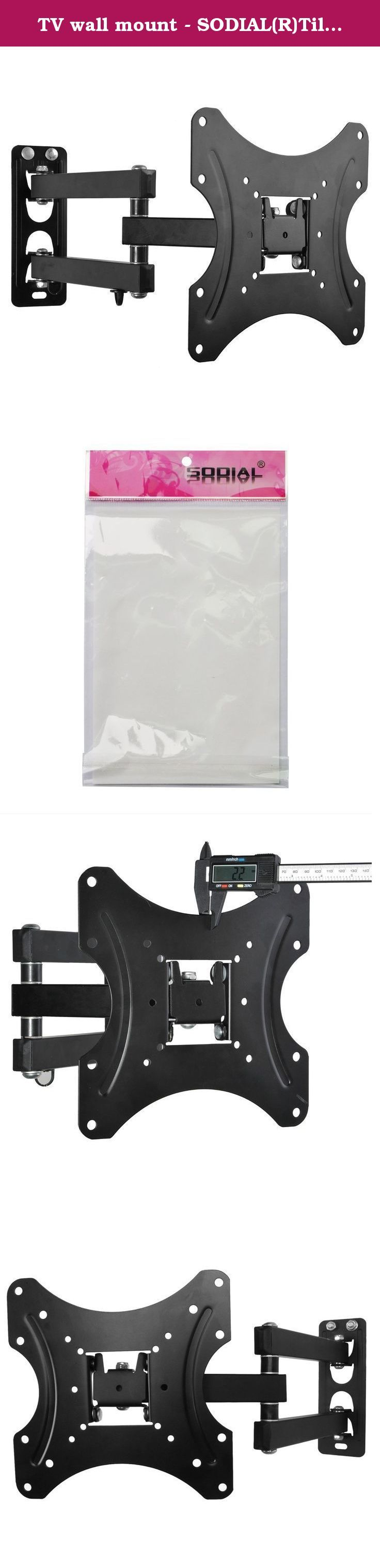 TV wall mount - SODIAL(R)Tilt Swivel Plasma LCD LED TV Wall Bracket Mount 10 26 30 32 37 38 40 42inch. * SODIAL is a registered trademark. ONLY Authorized seller of SODIAL can sell under SODIAL listings. Our products will enhance your experience to unparalleled inspiration. SODIAL(R)Tilt Swivel Plasma LCD LED TV Wall Bracket Mount 10 26 30 32 37 38 40 42inch Mount Dimensions(W*H): 220mm x 220mm Vesa Size: 200x200mm, 200x100mm, 150x150mm,100x100mm, 75x75mm Fitting Hole Distance(W*H)…