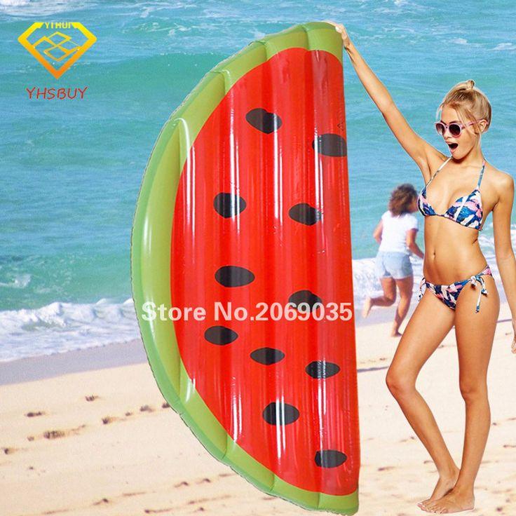 160x80 cm Gigante Inflable Sandía Rebanada Flotadores Piscina Para Adultos Niños Juguete Juego de Colchón De Aire Cama de Agua Kickboard Boia Piscina
