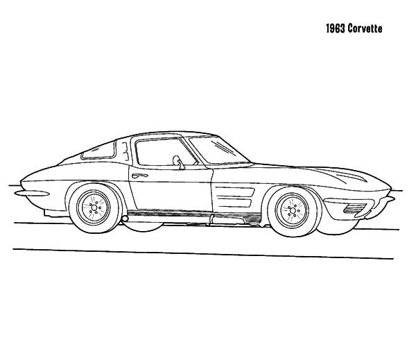 Corvette Cars 1963 Corvette Cars Coloring Pages Cars Coloring Pages Corvette Coloring Pages