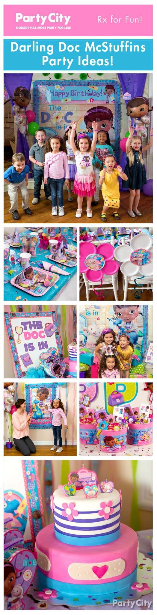 Give your party a healthy dosage of Doc McStuffins! Our too-cute party ideas featuring Dottie & friends are the perfect way to celebrate your daughter's birthday!: