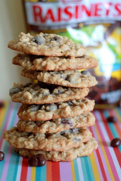 Dark Chocolate Raisinet Oatmeal CookiesCookies Brownies Bar, Desserts Cookies, Oatmeal Cookies, Kitchens Treaty, Dark Chocolates, Chocolates Raisinet, Raisinet Cookies, Raisinet Oatmeal, Sweets Tooth